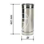 Elemento dritto  500 mm - Canna fumaria - acciaio inox