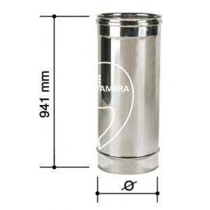 Elemento dritto 1000 mm canna fumaria acciaio inox for Canna fumaria inox bricoman