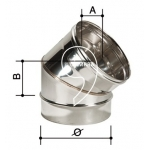 Elemento dritto 1000 mm - canna fumaria - acciaio inox