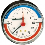 """Termomanometro con attacco posteriore 1/2"""" - Caleffi"""