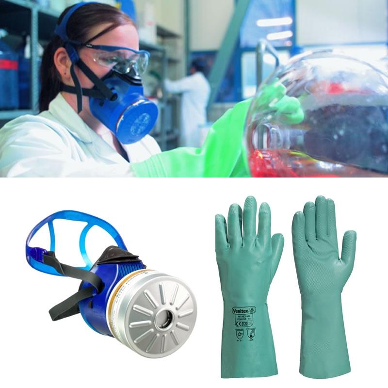 Maschera di protezione per solventi - KitClo2 - Fornid