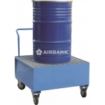 Carrello e vasca a ruote di stoccaggio per fusti 200 kg / 208 litri