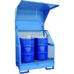 Armadio per stoccaggio e protezione 2 fusti 200 kg / 208 litri