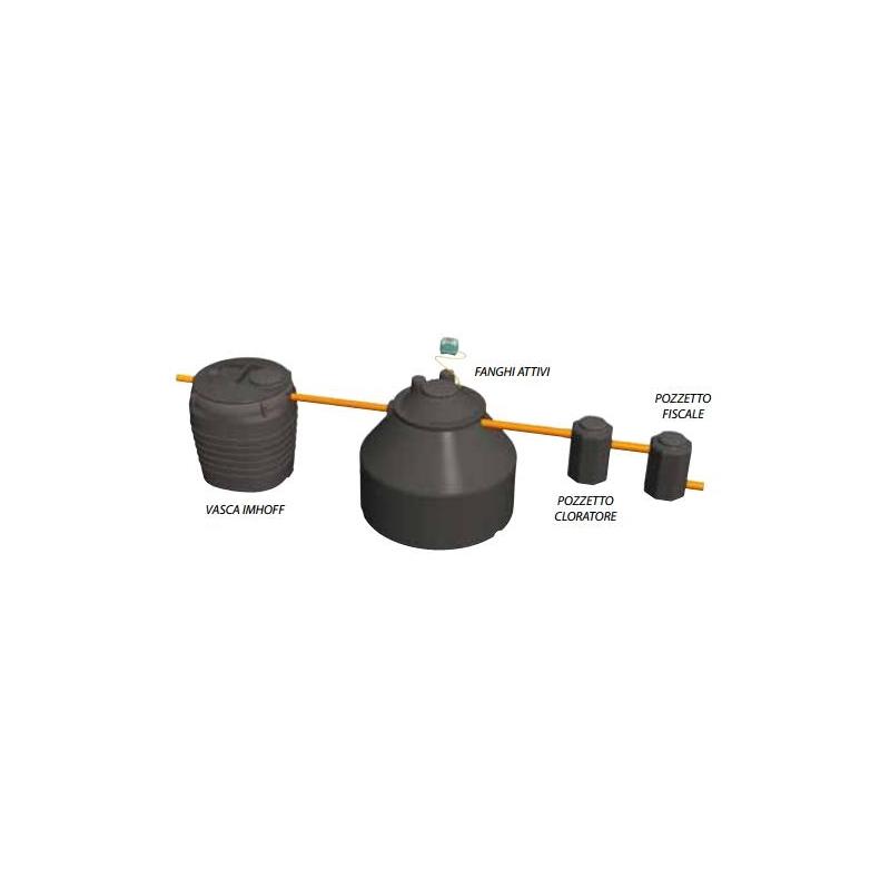 Eco IRC - Impianto fanghi attivi acque nere e grige congiunti - Scarico acque superficiali - Fornid