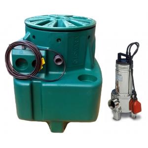 Lowara Singlebox - Pozzetto di scarico acque nere fognatura - Domo 7VX - 0.75 Hp