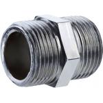 Nipples idraulico - vite doppia - in acciaio zincato