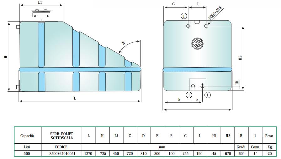 Serbatoio acqua in acciaio inox 500 litri | Di Camillo